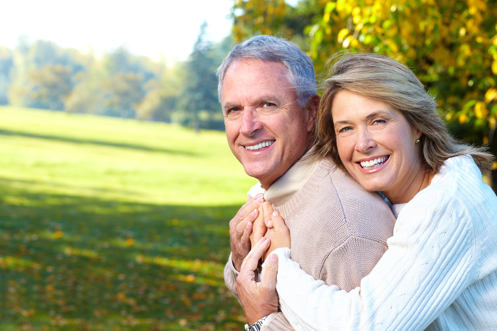Image of middle-aged couple in park