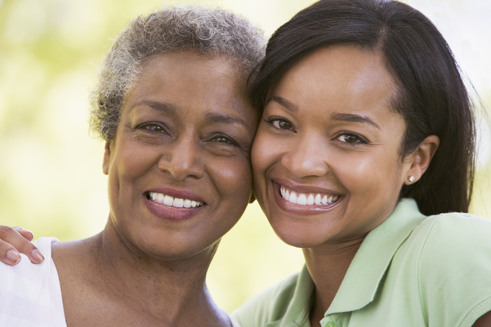 Image of mother, daughter smiling
